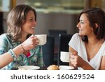 two smiling students having a... | Shutterstock . vector #160629524