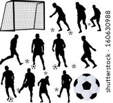 soccer player collection 1  ... | Shutterstock .eps vector #160630988