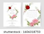 beautiful wedding invitation... | Shutterstock .eps vector #1606318753