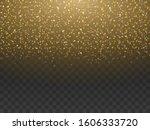 gold dust  sparkle powder... | Shutterstock .eps vector #1606333720