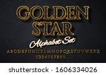 strong 3d golden typeface font...   Shutterstock .eps vector #1606334026