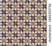 seamless pattern batik kawung...   Shutterstock .eps vector #1606353736