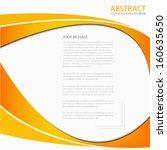 orange background vector line... | Shutterstock .eps vector #160635650
