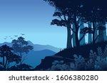 forest landscape vector...   Shutterstock .eps vector #1606380280