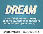white alphabet with blue 3d...   Shutterstock .eps vector #1606420216