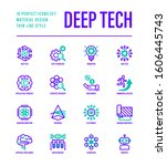 deep tech thin line icons set.... | Shutterstock .eps vector #1606445743