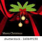 christmas card with christmas... | Shutterstock .eps vector #160649150