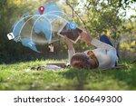 concept of using wireless... | Shutterstock . vector #160649300