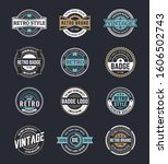 variety of decorative badges set | Shutterstock .eps vector #1606502743