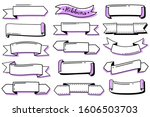 collection of hand drawn...   Shutterstock .eps vector #1606503703