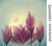 magenta water lilies   floral... | Shutterstock .eps vector #160650470