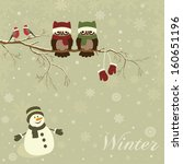 christmas card a branch with... | Shutterstock .eps vector #160651196
