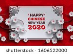 chinese new year 2020 banner.... | Shutterstock .eps vector #1606522000