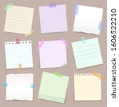 paper notes on stickers ... | Shutterstock .eps vector #1606522210