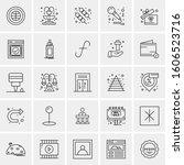 set of 25 universal business... | Shutterstock .eps vector #1606523716