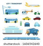 modern city transport set.... | Shutterstock .eps vector #1606542640