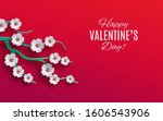 valentine's day holiday design. ... | Shutterstock .eps vector #1606543906