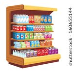 supermarket. vector  | Shutterstock .eps vector #160655144