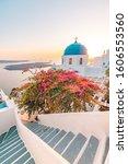 Santorini  Greece. Sunset...