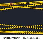caution tape on black... | Shutterstock .eps vector #1606561603