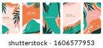 vector set of abstract creative ...   Shutterstock .eps vector #1606577953