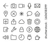 vector icons set in ios 7 style....