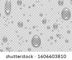 water rain drops or steam... | Shutterstock .eps vector #1606603810