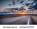 Asphalt Road Following A...