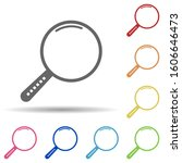 magnifier in multi color style...