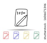 mathematical exercise on a...