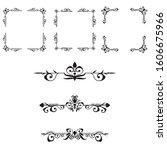 classic ornament frame  vintage ... | Shutterstock .eps vector #1606675966