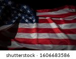 close up shot of waved flag of... | Shutterstock . vector #1606683586