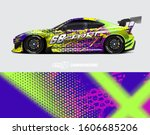 rally car graphic livery design ... | Shutterstock .eps vector #1606685206