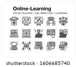 online learning icons set. ui...
