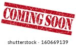 coming soon grunge red stamp | Shutterstock . vector #160669139