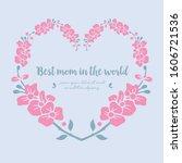 decoration of best mother in... | Shutterstock .eps vector #1606721536