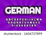 modern styled 3d trendy font... | Shutterstock .eps vector #1606727899
