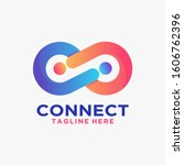 connect logo design with...   Shutterstock .eps vector #1606762396