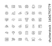 global money icon set in flat... | Shutterstock .eps vector #1606793779
