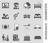 family life icons. sticker... | Shutterstock .eps vector #1606803193