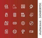 editable 16 prescription icons... | Shutterstock .eps vector #1606808950
