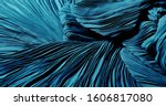 Small photo of Texture, background, pattern, Cloth pleated blue. A shiny finished folded satin fabric is a light, glossy glossy and beautiful type of fabric that makes the design of the end stylish and glamorous