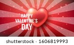 valentines day background or... | Shutterstock .eps vector #1606819993