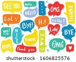 hand drawn background set of...   Shutterstock .eps vector #1606825576