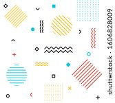 abstract geometric shapes... | Shutterstock .eps vector #1606828009