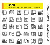 book icons set  design pixel...