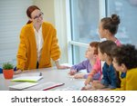 primary education. a smiling...   Shutterstock . vector #1606836529