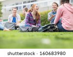 group of young college students ... | Shutterstock . vector #160683980