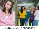 female student being bullied by ... | Shutterstock . vector #160684010