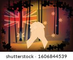 australia forest fire  pray for ... | Shutterstock .eps vector #1606844539